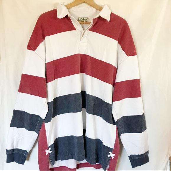1a78c57c L.L. Bean Shirts | Vintage Ll Bean Striped Rugby Polo | Poshmark